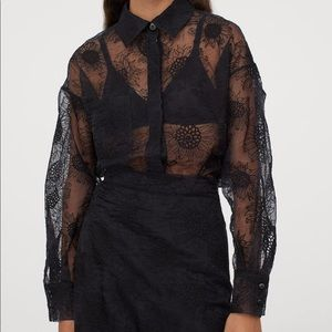 H&M x Sandra Mansour Sunflower Embroidered Blouse